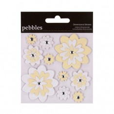 Наклейки Pebbles Dimensional Sitckers - The Mr. & Mrs. Flowers, 732044