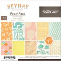 Набор бумаги Heyday, 15x15 см, Studio Calico, 330050