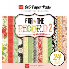 Набор бумаги For the Record 2 Tailored, 15х15 см, Echo Park, FRT36023