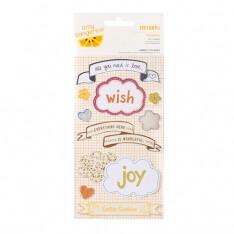 Наклейки тканевые Amy Tangerine Remarks Stickers Fabric Wishing 10 / Pkg, 42216