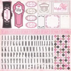 Наклейки Paris Girl Alpha Stickers, Carta Bella, CBPG2012