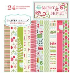 Набор бумаги Merry & Bright, 15х15 см, Carta Bella, CBMB5014