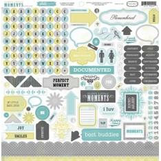 Наклейки Happy Little Moments Element Stickers, 30х30 см, Echo Park, PFHM3007