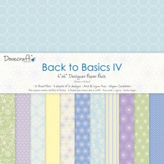Набор бумаги Back to Basics IV, 15х15 см, Dovecraft, DCDP131