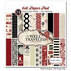 Набор бумаги Well Travelled, 15х15 см, Carta Bella, CBWT11014