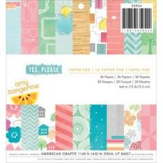 Набор бумаги Yes Please Amy Tangerine, 15 × 15 см, American Crafts, 35954