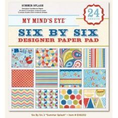 Набор бумаги Summer Splash, 15х15 см, My Mind's Eye, 6X6202