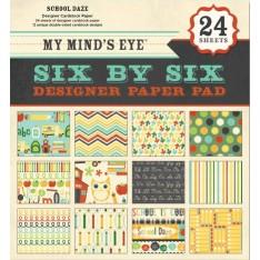 Набор бумаги School Daze, 15х15 см, My Mind's Eye, 6X6212