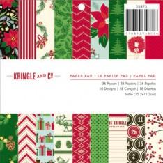 Набор бумаги Kringle & Co, 15х15 см, American Crafts, 35873