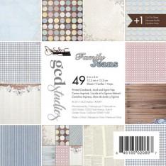 Набор картона Family Jeans Donna Salazar, 15х15 см, GCD Studios, 2089