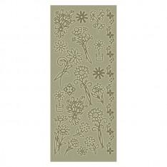 Контурные наклейки Dovecraft - Gold Flowers, DCPO71