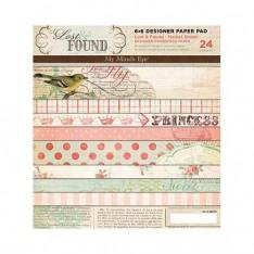 Набор картона Lost & Found Market Street, My Mind's Eye, 15х15 см, 24 ар., MAR6X6
