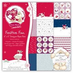 Набор бумаги Festive Fun, 15x15, 15 см, Fizzy Moon, FZXDP03