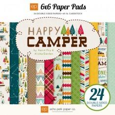Набор бумаги Happy Camper, 15х15 см, Echo Park, HC48023