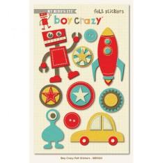 Фетровые наклейки Boy Crazy, My Mind & Eye, GB1020
