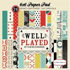 Набор бумаги Well Played, 15х15 см, Carta Bella, CBWP17015