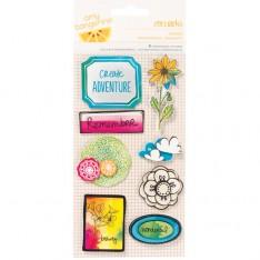 Объемные наклейки Amy Tangerine Sketchbook - Doodle, American Crafts, 42243