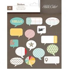 Висечки Chipboard Speech Bubbles - Snippets, Studio Calico, 331345