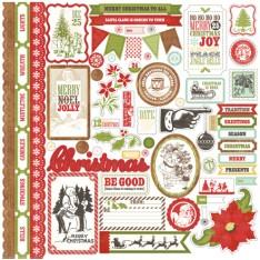 Наклейки This & That Christmas Element, Echo Park, 30х30 см, TTC38014