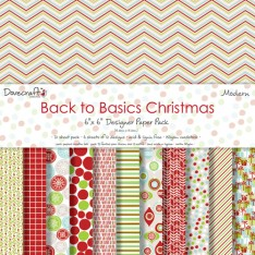 Набор бумаги Back to Basics Christmas Modern, 15 × 15 см, Dovecraft, DCXDP30