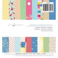 Набор бумаги Mayberry, 15 × 15 см, American Crafts, 36026