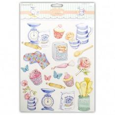 Наклейки с блестками Cupcake Boutique, Baking, A4, Dovecraft, DCST048