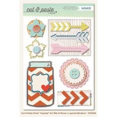 Объемные многослойные наклейки Inspired (Cut & # 038; Paste), My Mind's Eye, CP2008