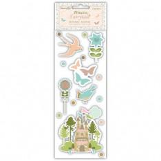 Наклейки принцессы Сказочные 3d наклейки с драгоценными камнями и # 8211; Сады, DCST001