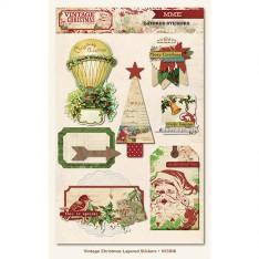 Объемные многослойные наклейки Vintage Christmas, My Mind's Eye, VC1018