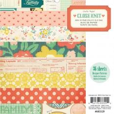 Набор бумаги Close Knit, 15 × 15 см, Crate Paper, 683329