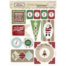 Обьемные многослойные наклейки So This is Christmas, Carta Bella, CBST20018