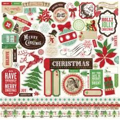 Наклейки Размышления Рождество, Echo Park, 30х30 см, RC55014