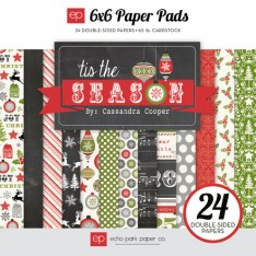 Набор бумаги Tis the Season, 15х15см, Echo Park, TIS56023