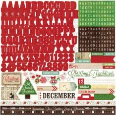 Наклейки Альфа Размышления Рождество, Echo Park, 30х30 см, RC55015