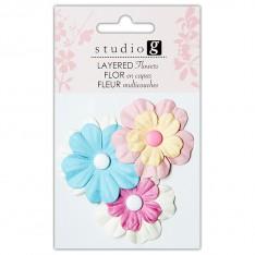 Цветы бумажные, Pinks, Hampton Art, VAC0402-1