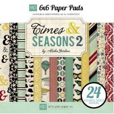 Набор бумаги Times & Seasons Two, 15х15см, Echo Park, TST57023