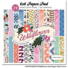 Набор бумаги Wild Flower, 15х15 см, Carta Bella, CBWD22015