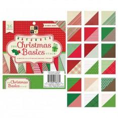 Набор бумаги Christmas Basics, 15х15 см, DCWV, CP-002-00930
