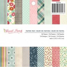 Набор бумаги Front Porch, 15 × 15 см, Pebbles, 732346
