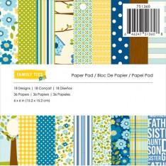 Набор бумаги Family Ties, 15 × 15 см, Pebbles, 751360