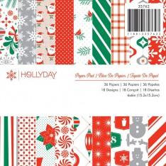 Набор бумаги Hollyday, 15 × 15 см, American Crafts, 35762