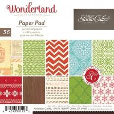 Набор бумаги Wonderland, 15 × 15 см, Studio Calico, 330122