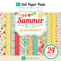 Набор бумаги Summer Bliss, 15х15см, Echo Park, SB62023