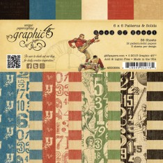 Набор бумаги Good Ol & Sport, 15х15 см, Graphic 45, 4500864