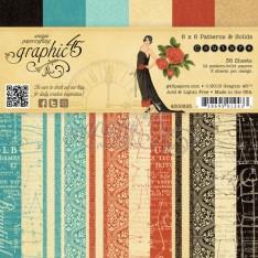 Набор бумаги Couture, 15х15 см, Graphic 45, 4500825
