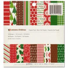 Набор бумаги Welcome Christmas, 15 × 15 см, Pebbles, 751292