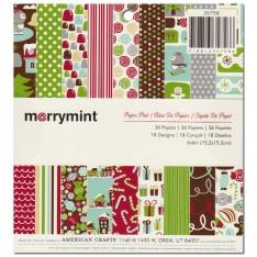 Набор бумаги Merrymint, 15 × 15 см, American Crafts, 35758