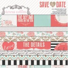 Набор бумаги Save The Date, 15х15 см, Teresa Collins, SD1010