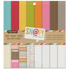 Набор бумаги SN @ P! Basics, 15х15 см, Simple Stories, SS2897