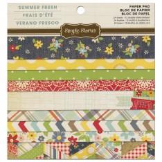 Набор бумаги Summer Fresh, 15х15 см, Simple Stories, SSSF61